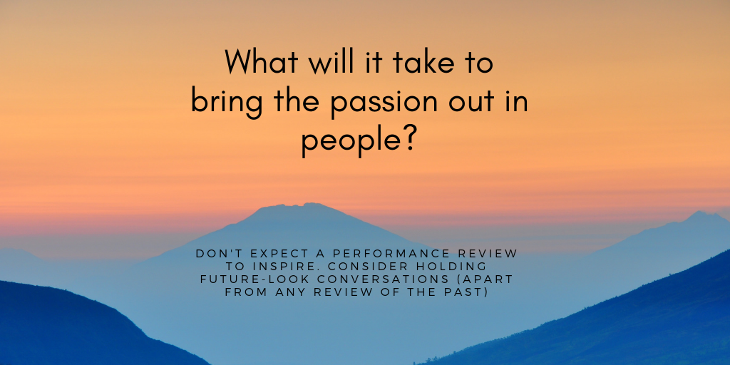 Performance Reviews, Future Goals, Passion, Engagement, Alignment